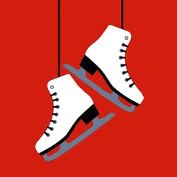 Patinoire fond rouge 250
